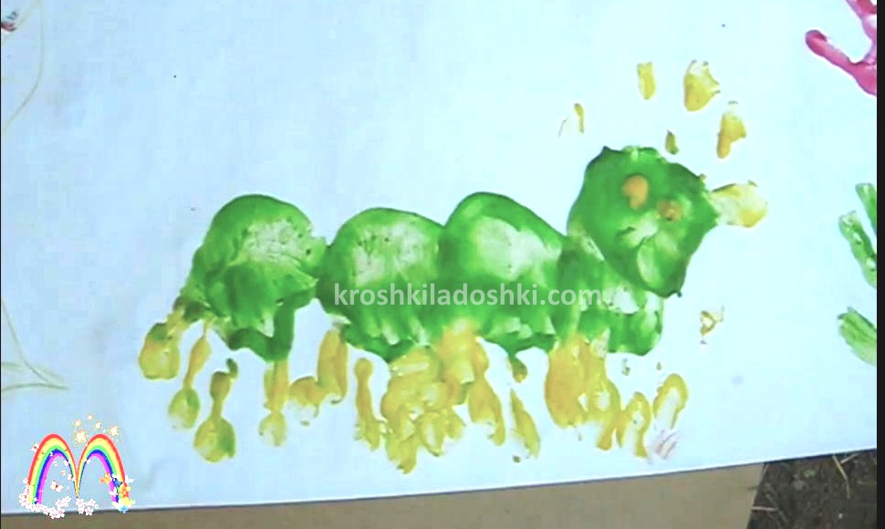 рисунки из детских ладошек