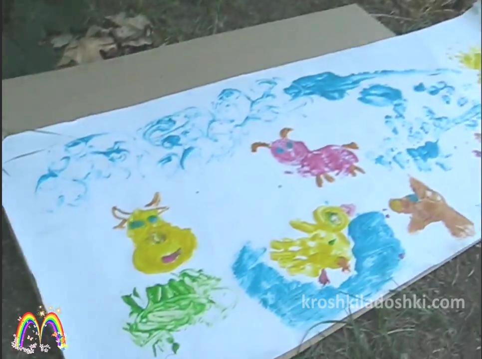 уроки рисования ладошками и ножками