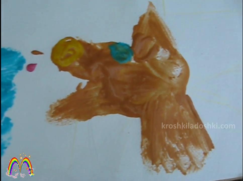как рисовать пальчиковыми красками