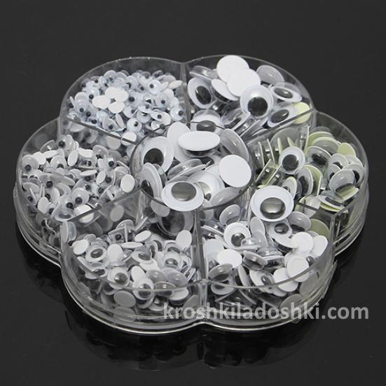 пластиковые самоклеящиеся глаза для игрушек