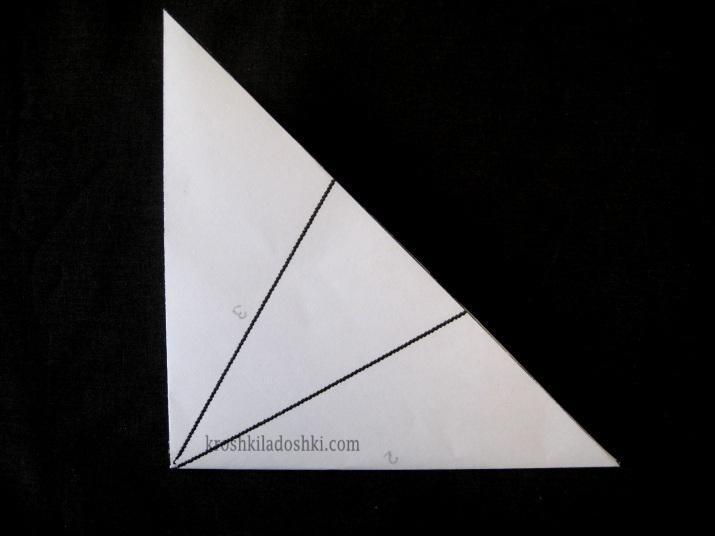 как правильно сложить бумагу для вырезания снежинок