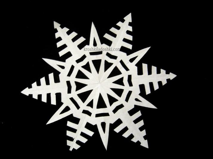 шаблоны снежинок для вырезания распечатать