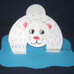аппликация белый полярный медведь