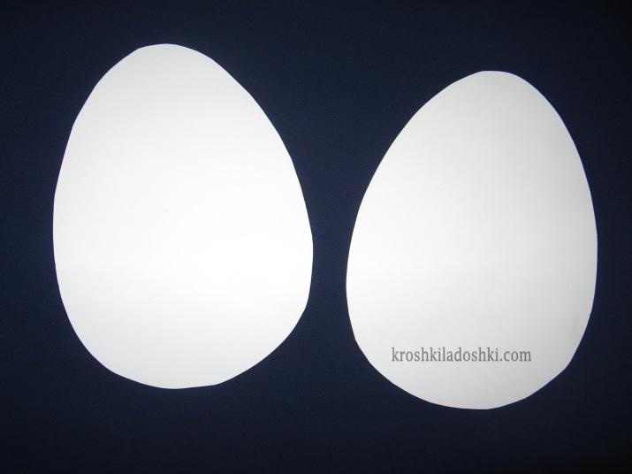шаблон яиц для вырезания