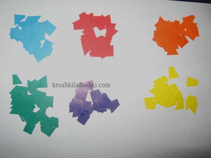 конфетти для мозаики