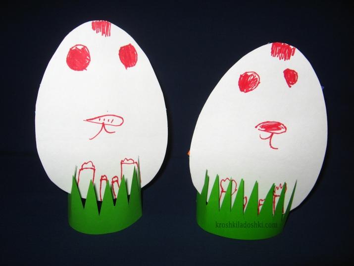 делаем пасхальные яйца с детьми