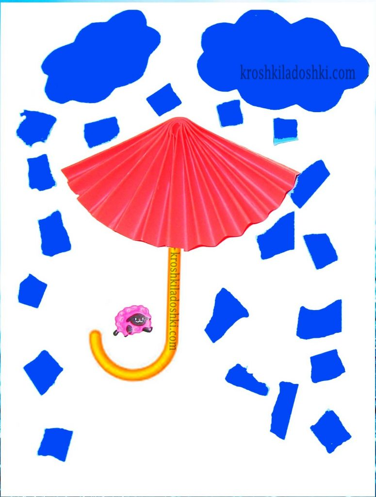 поделка зонтик из цветной бумаги