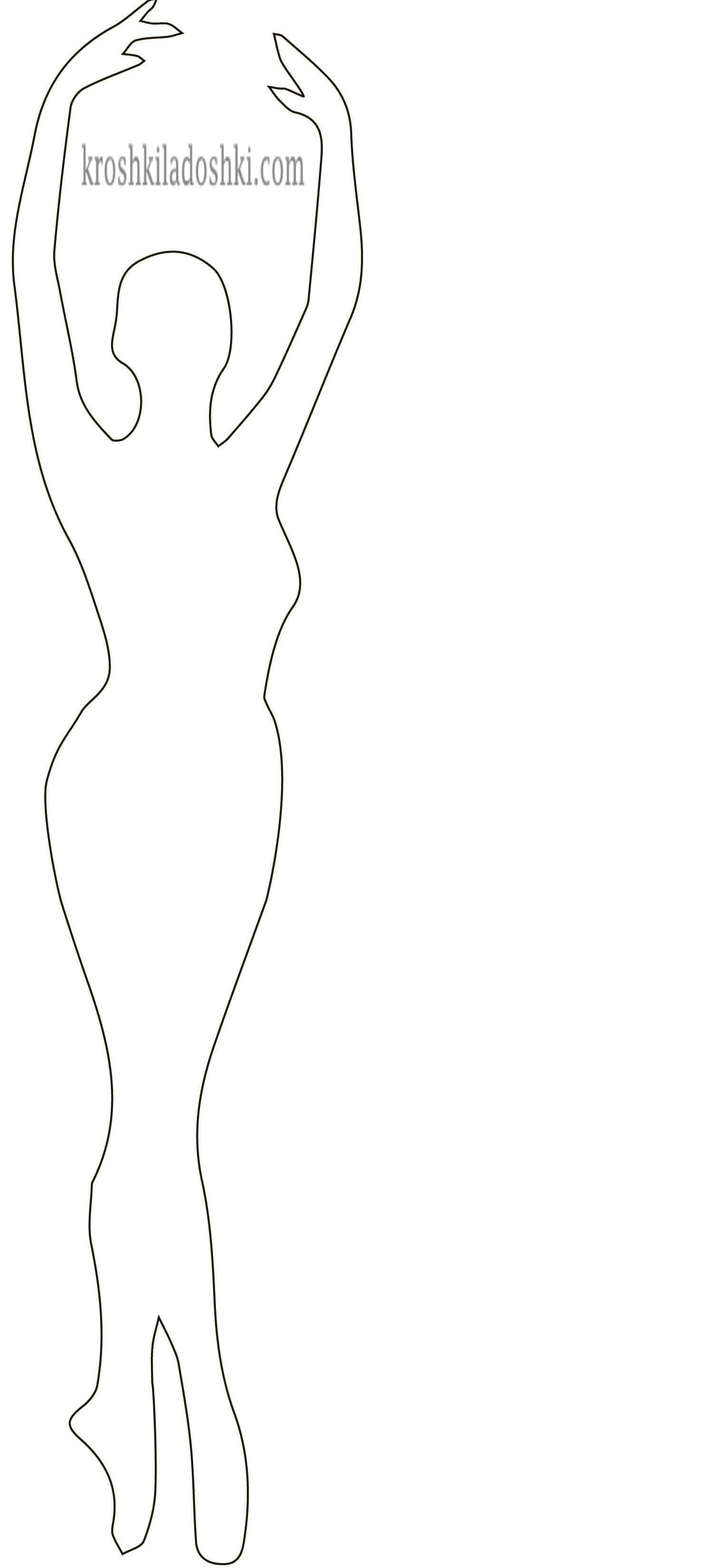 шаблон балерины для вырезания 2