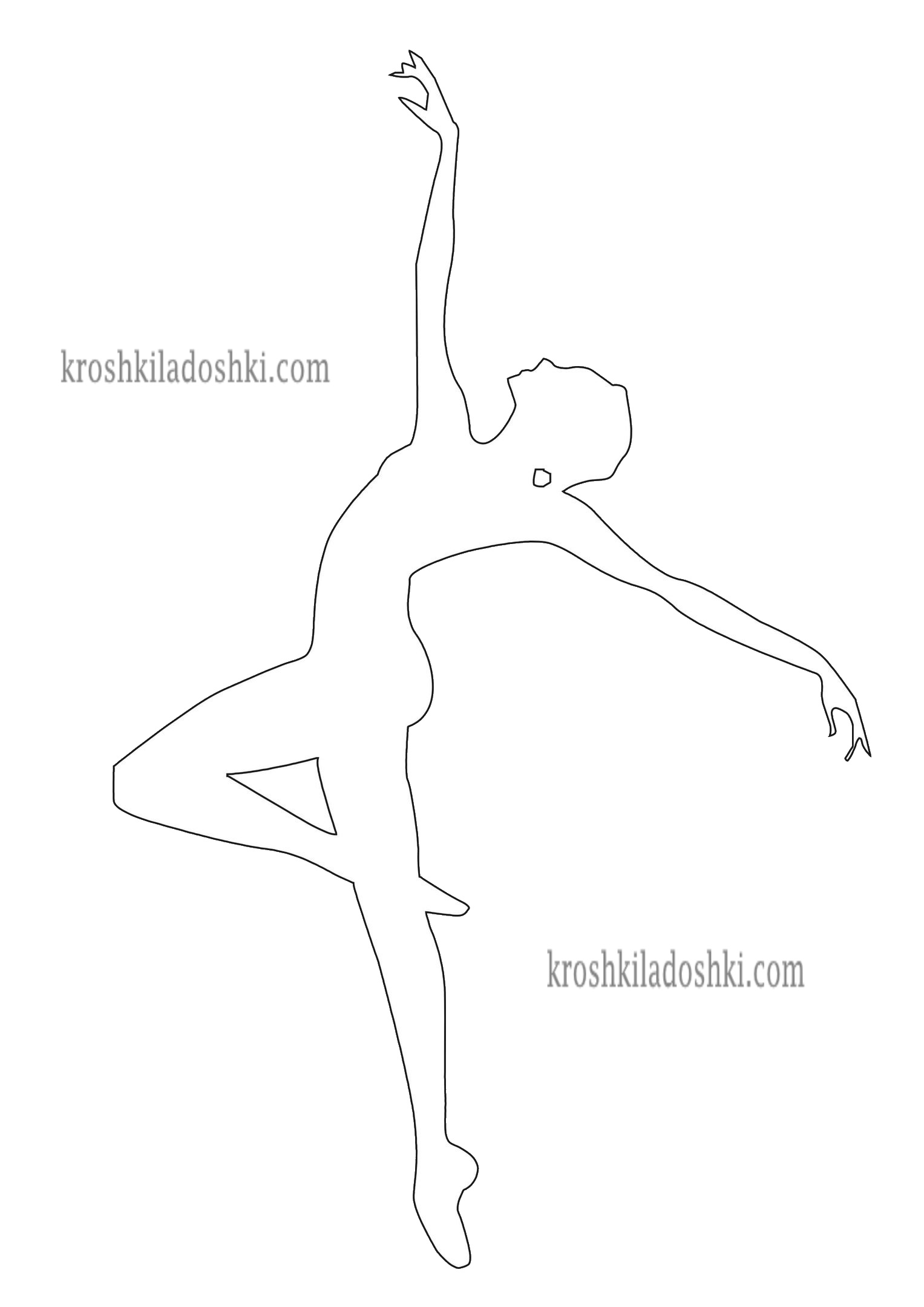 шаблон балерины для вырезания 9
