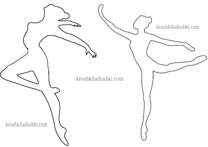 шаблоны балерин для вырезания 2