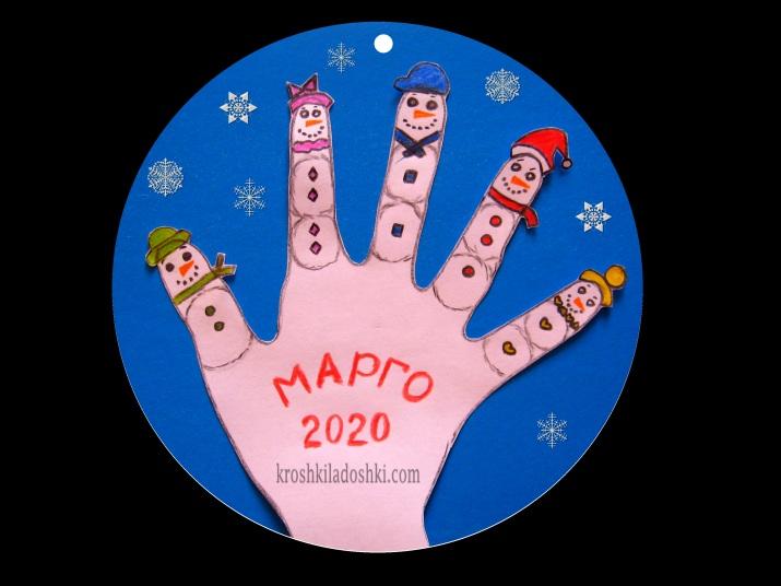 семья пальчиков снеговиков