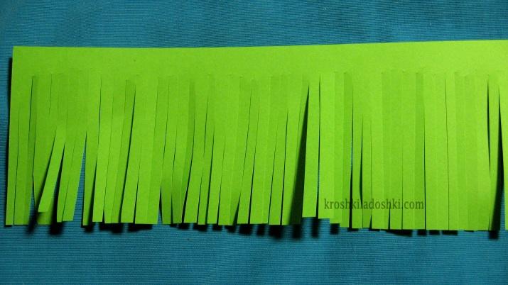 как сделать сосновую ветку из бумаги