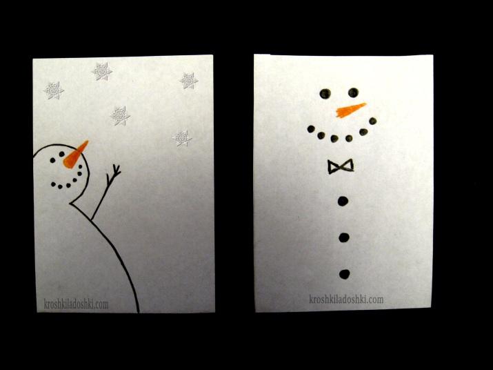 новогодние открытки за 5 минут