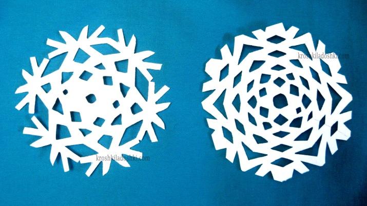 простые снежинки своими руками