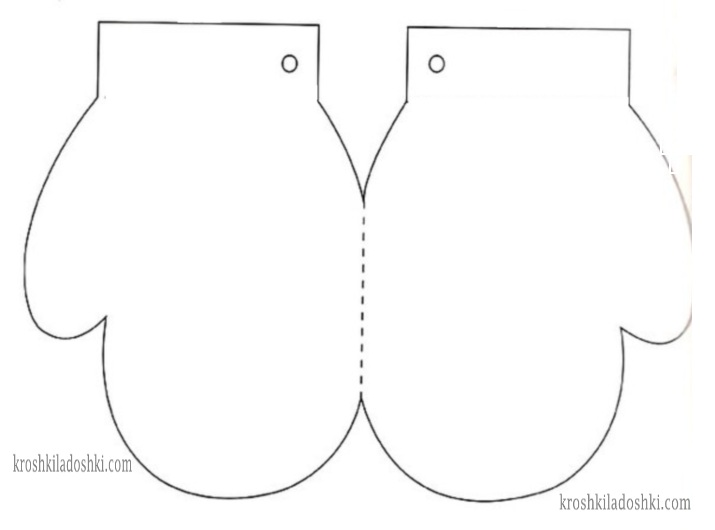 шаблон рукавички 2