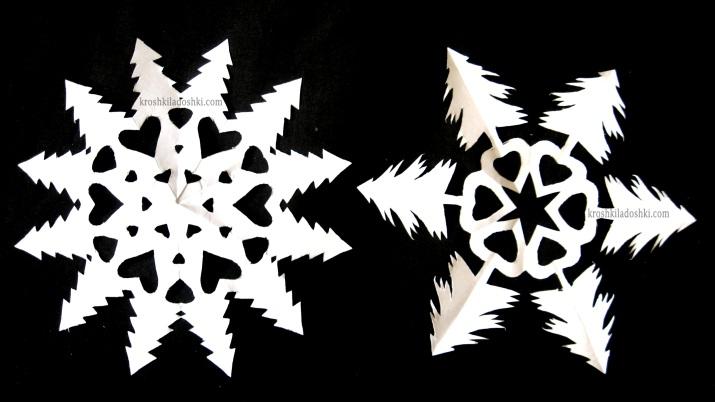 шаблоны снежинок елочка