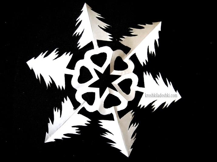 снежинка елочка 2