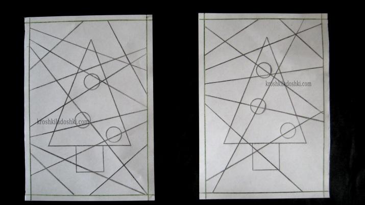 как нарисовать елочку