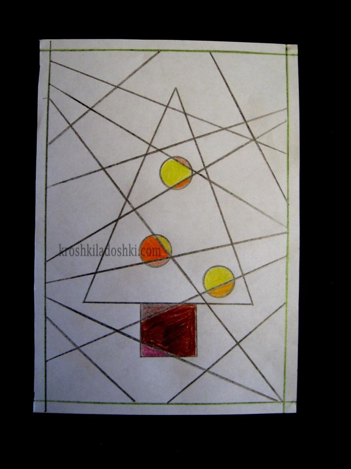 елочка новогодняя открытка