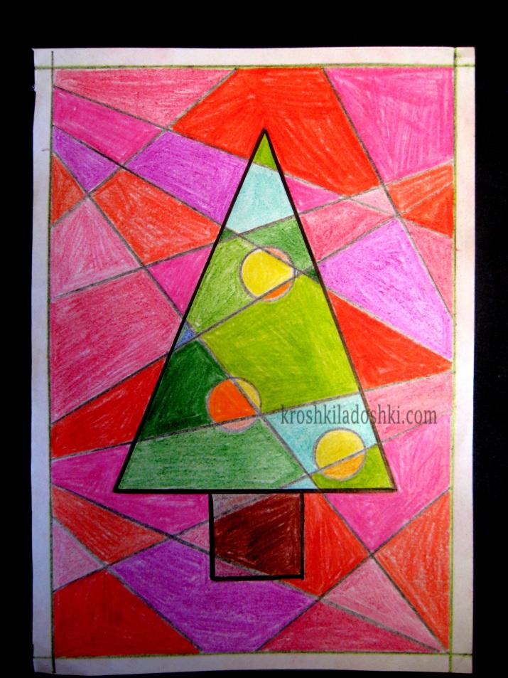 новогодняя открытка елка