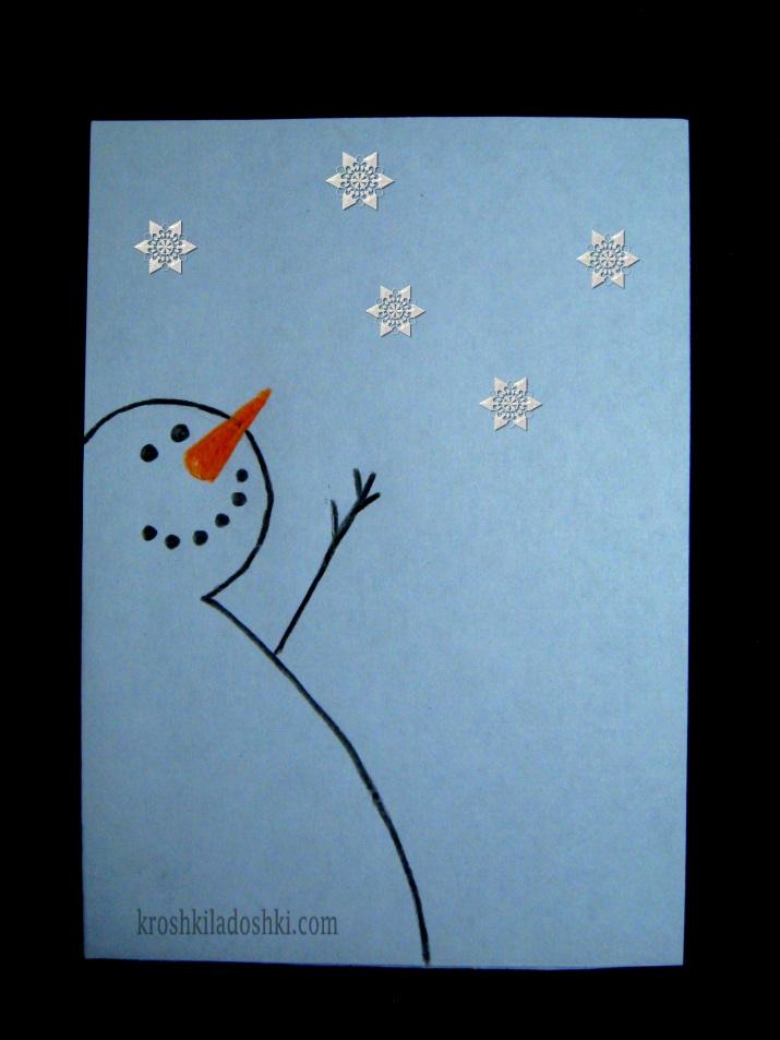 простые новогодние открытки своими руками