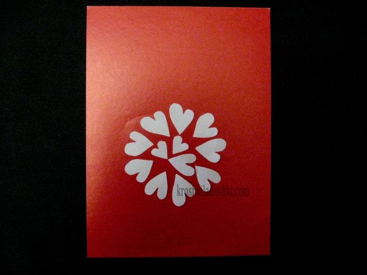 открытка с сердечками своими руками