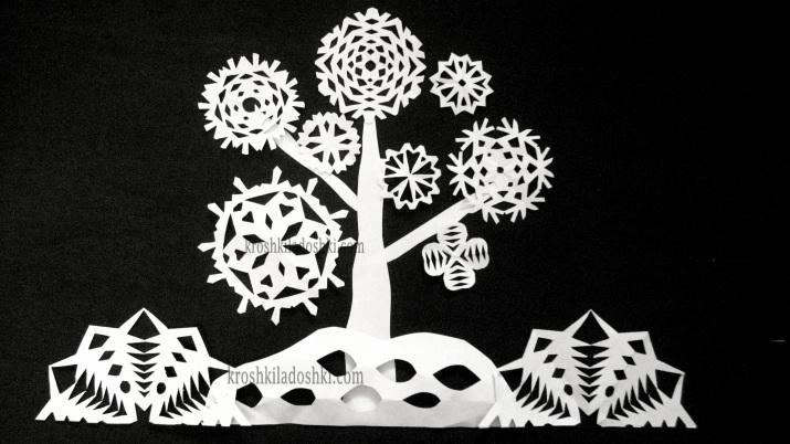 дерево из снежинок