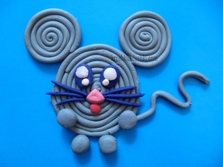 мышка из пластилина