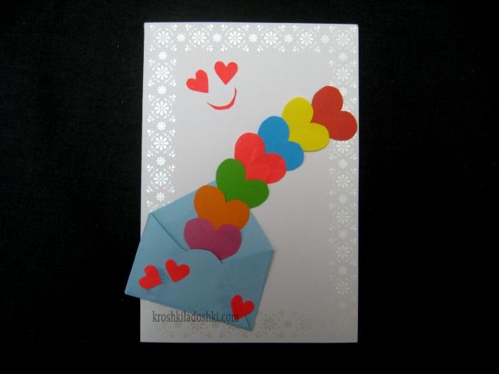открытка с сердечками своими руками 3