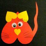 кот аппликация из сердечек