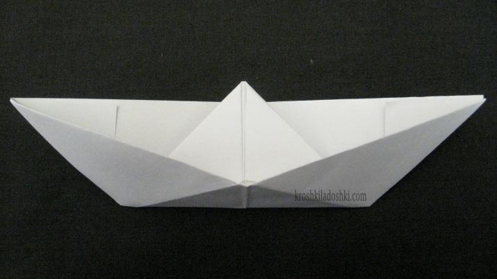 бумажный кораблик пошагово