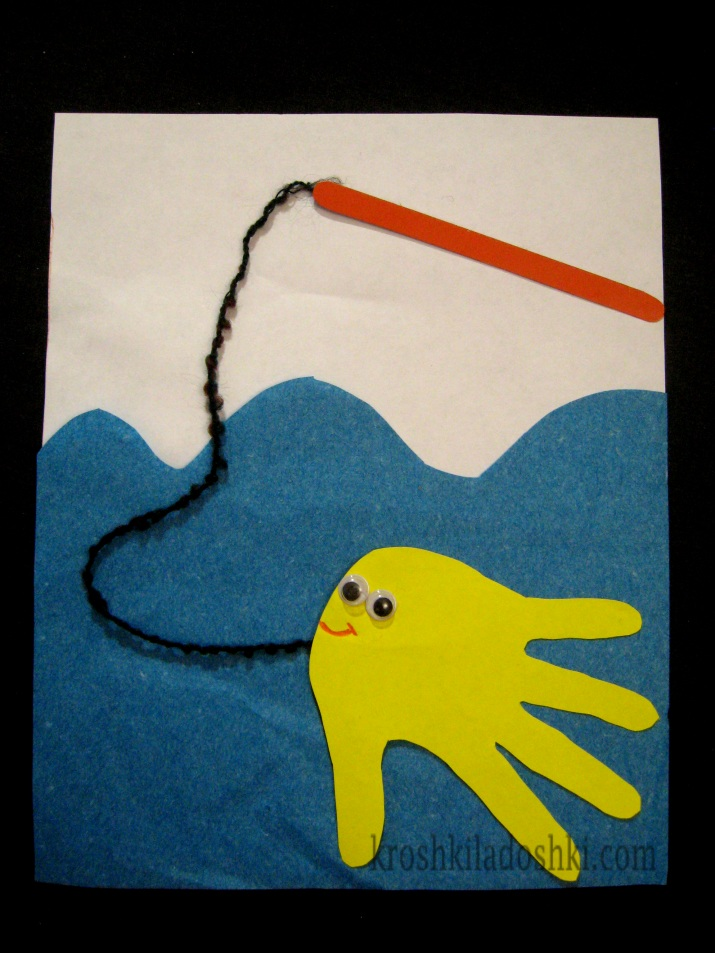 рыбка из ладошки