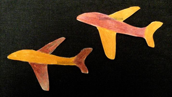 шаблон самолета скачать