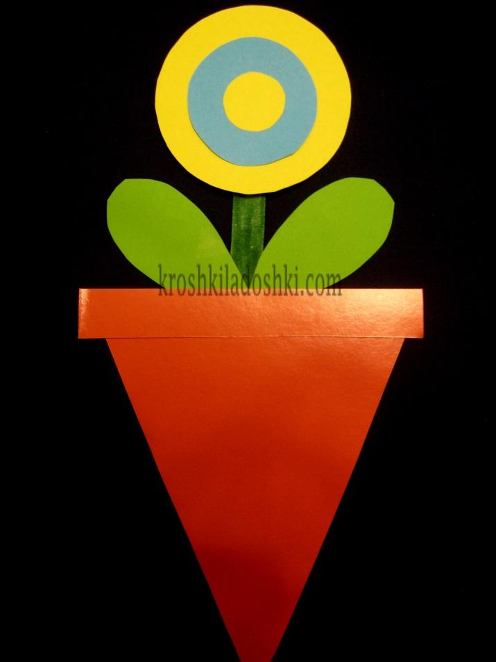 аппликация из цветной бумаги цветы