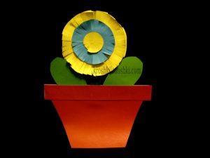 поделка цветок в горшке для мамы на 8 марта