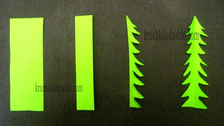 как вырезать из бумаги листья одуванчика