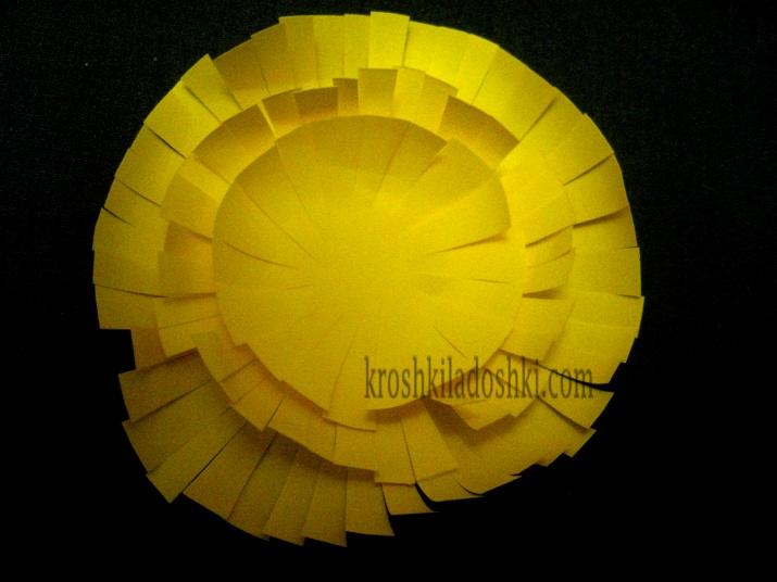 цветы одуванчика из бумаги своими руками