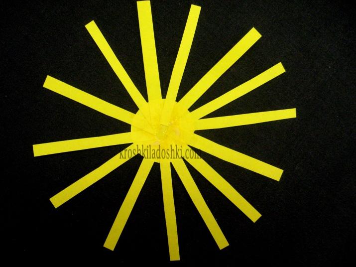 как сделать солнце из бумаги