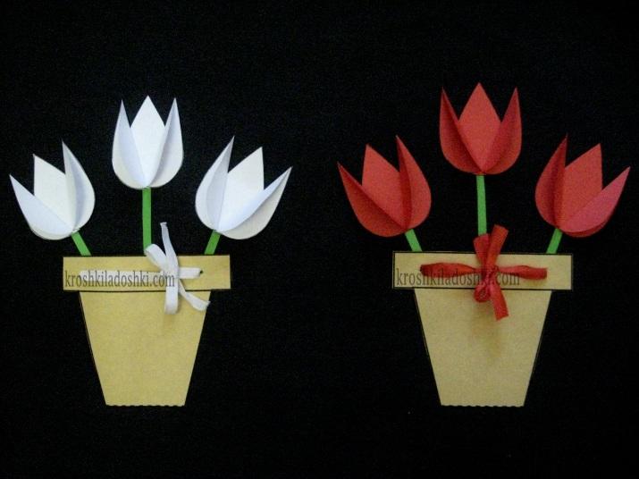 аппликация тюльпаны