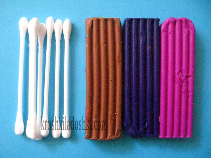 как сделать веточку вербы из ватных палочек и пластилина
