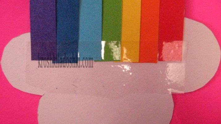 радуга из бумаги