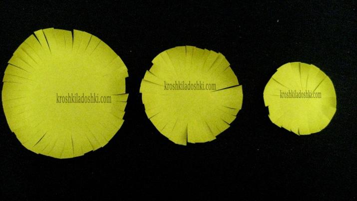 как сделать серединку для цветка из бумаги