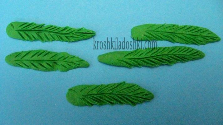 как сделать листья из пластилина
