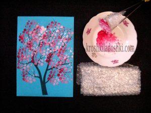 как нарисовать цветущее весеннее дерево