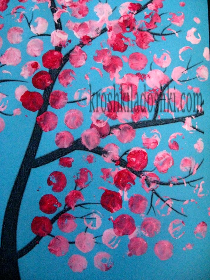занятие цветущее весеннее дерево