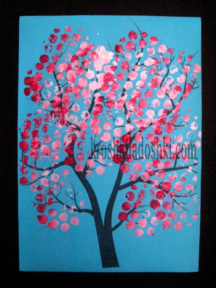 аппликация цветущее весеннее дерево