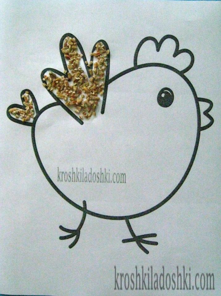 цыпленок из крупы
