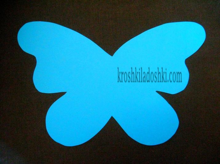 шаблон крыльев бабочки