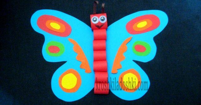 бабочка объемная аппликация