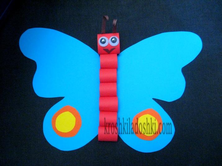 аппликация бабочка из геометрических фигур